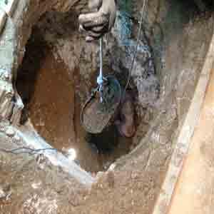 حفاری چاه در شهرک اوج کرج